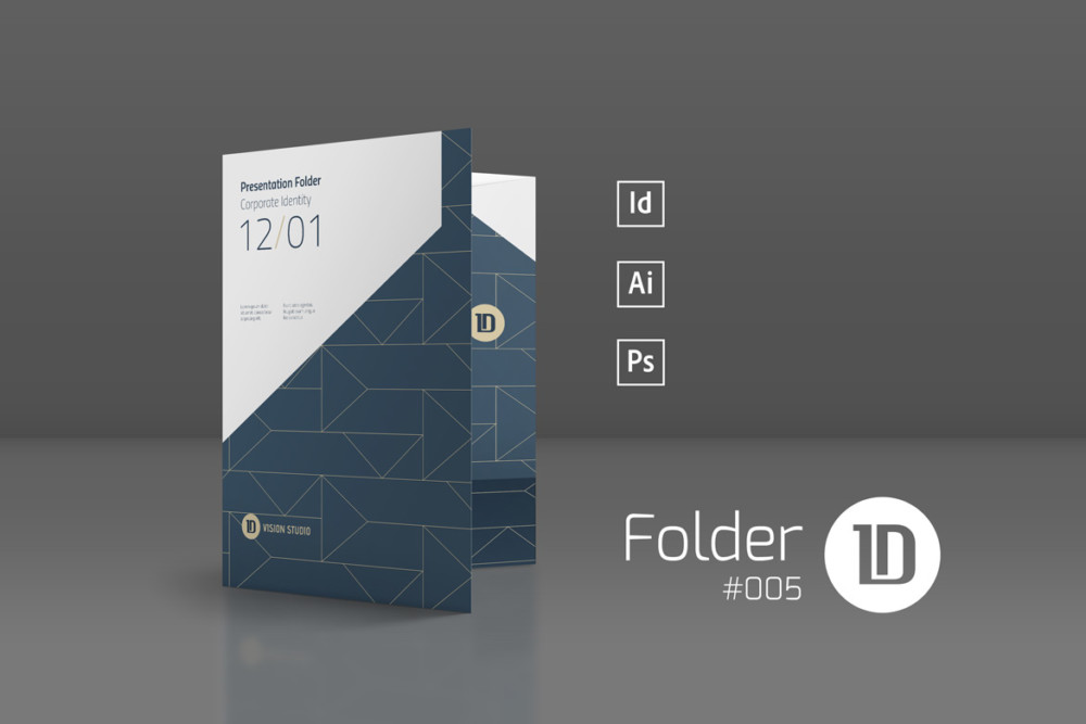 wordpress template folder - corporate presentation folder template graphic cloud