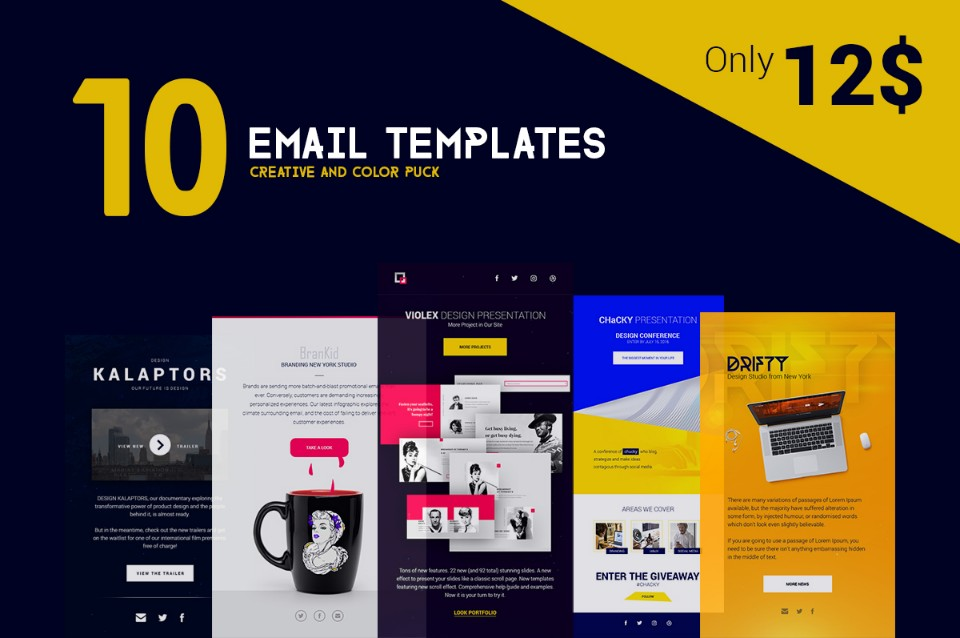 Email Marketing Template Html For Corporate And Business