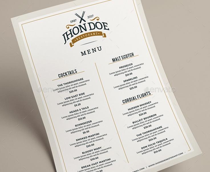 banquet menu template
