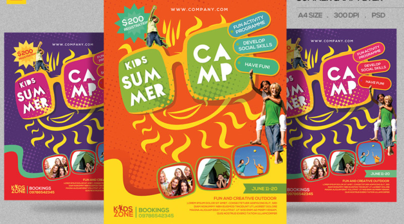 Summer Camp Flyer Template Word Militaryalicious