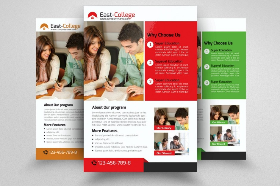 Tutoring Flyer Template Psd Eps And Indesign Format  Graphic