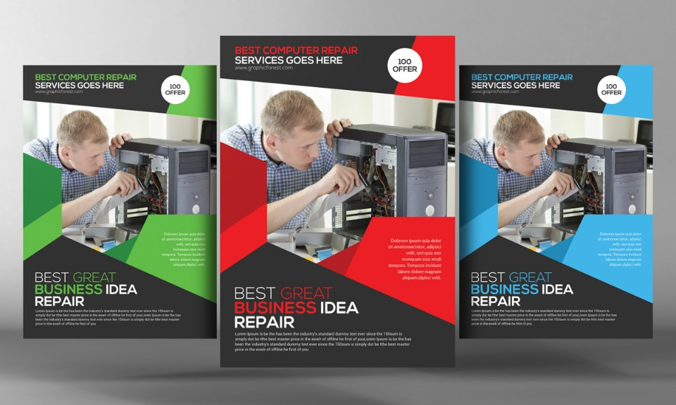 electronics-repair-flyer-template