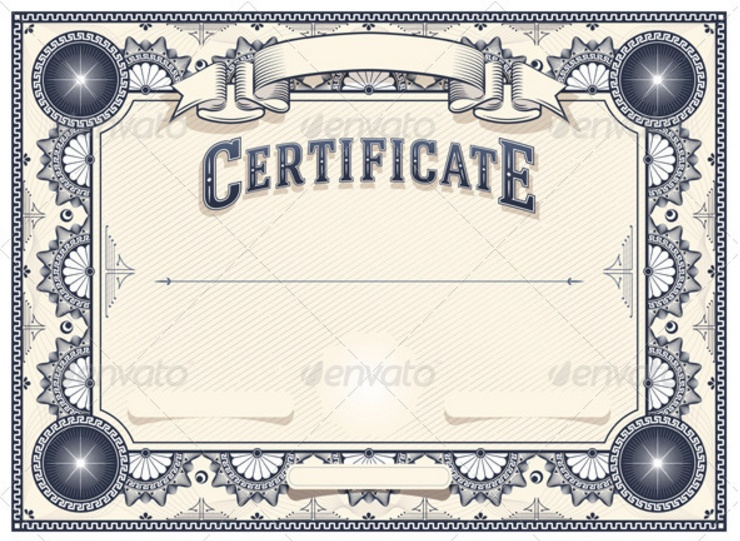 10 Blank Certificate Template PSD Word EPS and InDesign Format – Blank Certificate Format