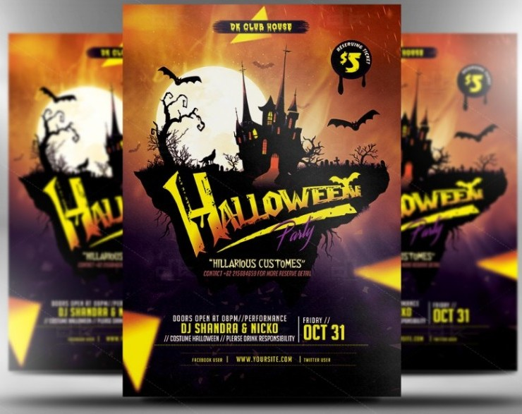 fullyeditablezombieflyertemplate Graphic Cloud – Zombie Flyer Template