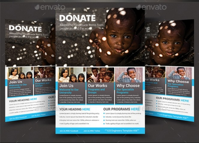 20 Fundraiser Flyer Template PSD Word InDesign and EPS Format – Donation Flyer Template