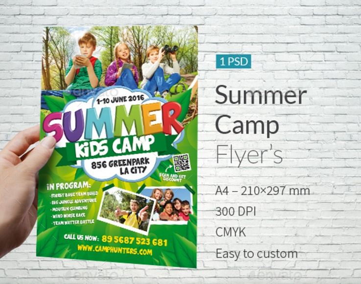 Summer Camp Flyer Template Psd Word And Indesign Template