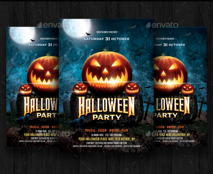 halloween-celebration-Party-flyer-template