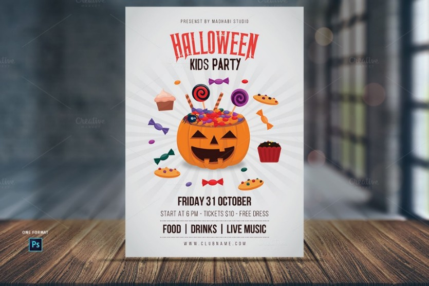 kids-halloween-party-flyer-template