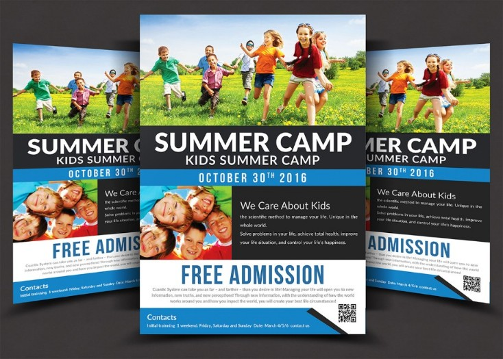 15 Summer Camp Flyer Template Psd Word And Indesign
