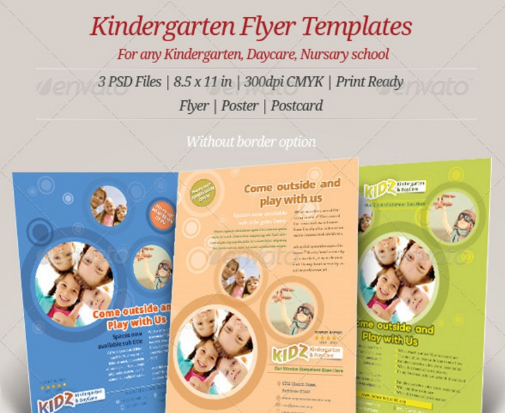 Day Care Flyer Template Psd Indesign And Eps Format  Graphic Cloud