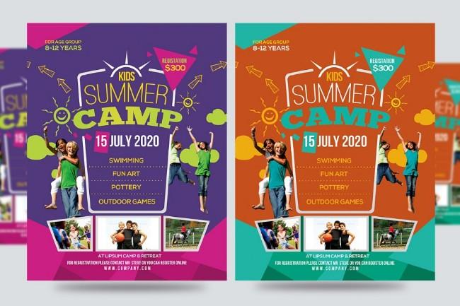 layered-summer-camp-psd-flyer
