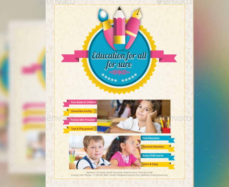 Day Care Flyer Template Psd Indesign And Eps Format  Graphic