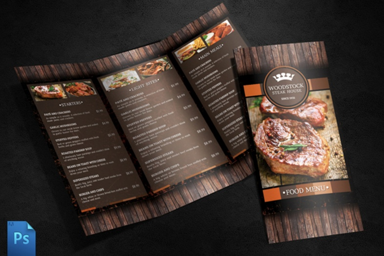 Cafe Menu Template Psd Ai And Indesign Format  Graphic Cloud