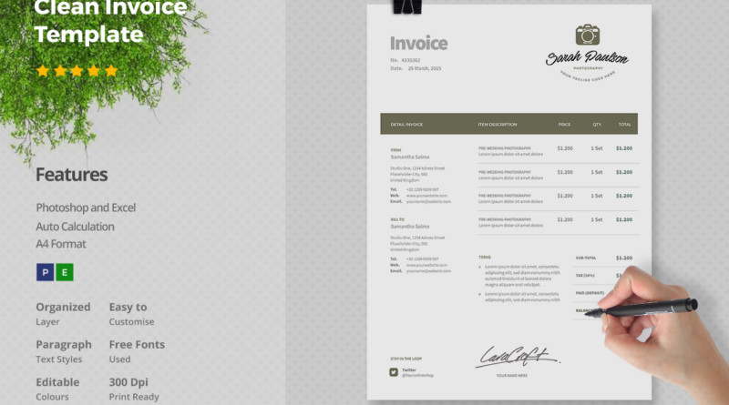 15+ service invoice template word, eps, psd and indesign format, Invoice examples