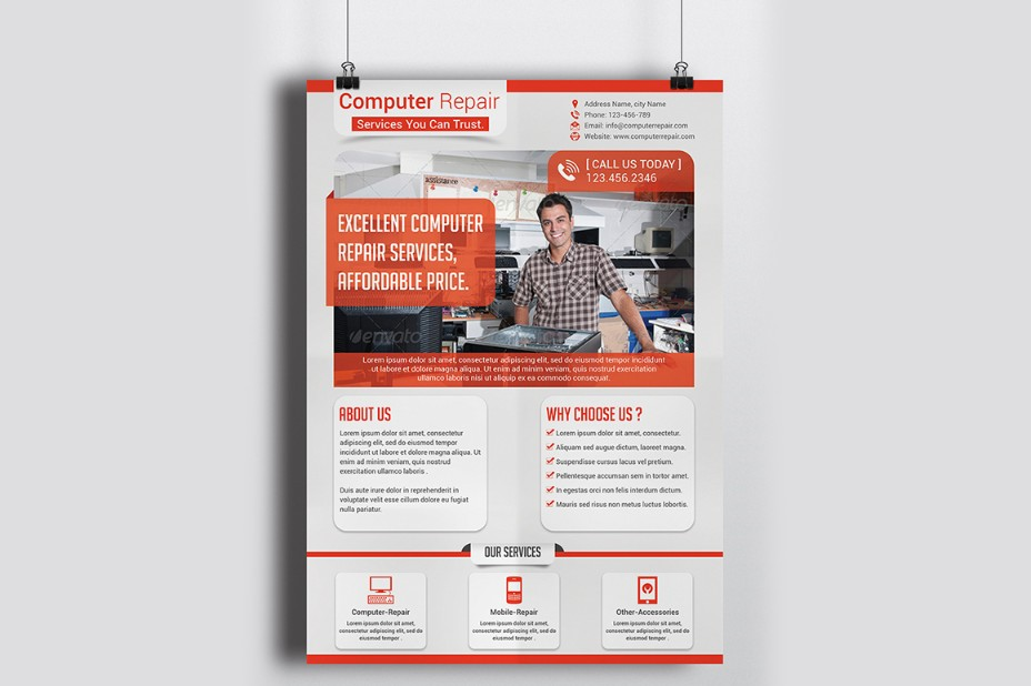 repair-and-networking-flyer-template