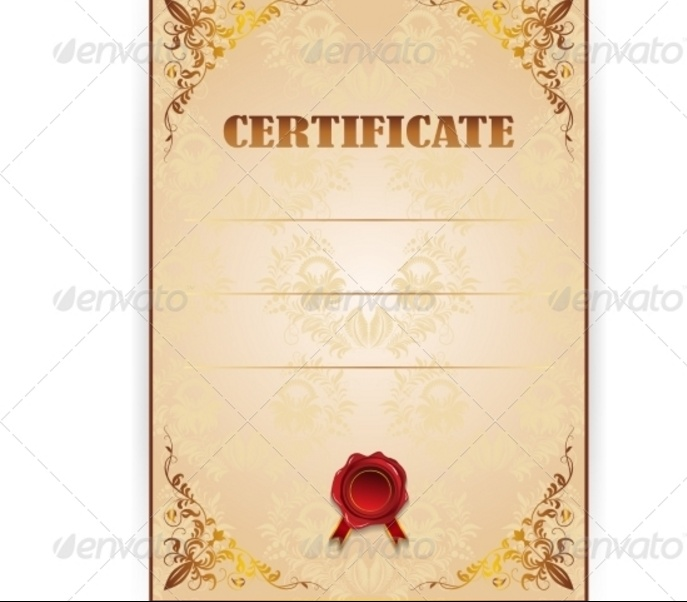 10 Blank Certificate Template PSD Word EPS and InDesign Format – Blank Certificate Template