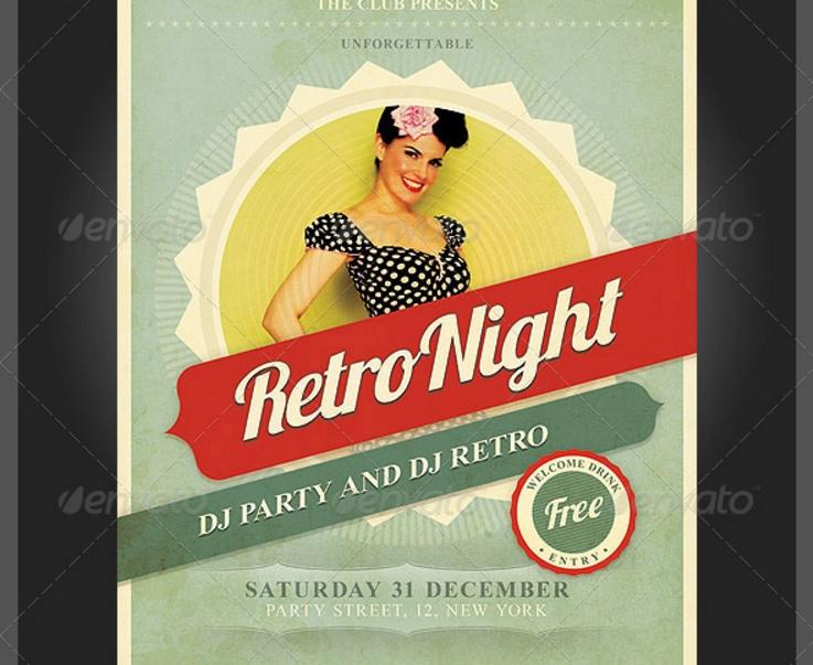 retro-night-flyer-template