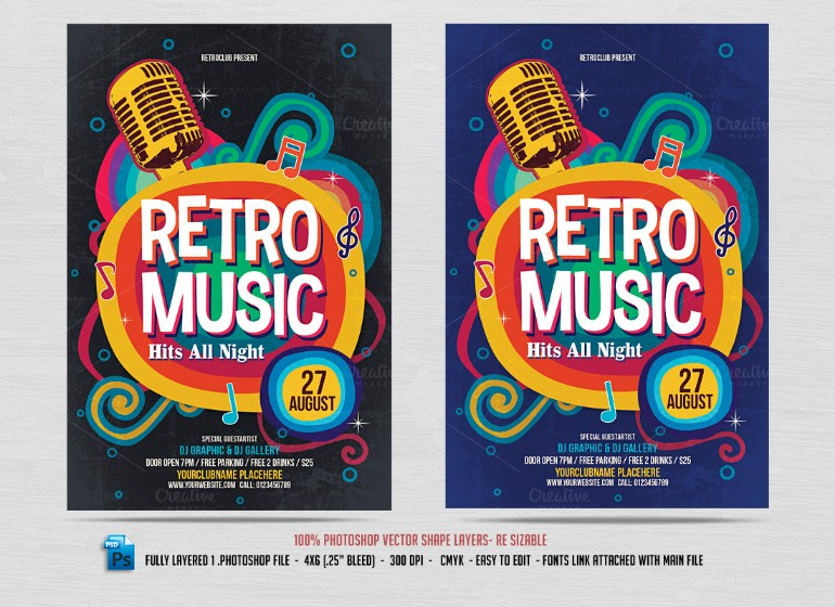 retro-tlaent-show-flyer-template
