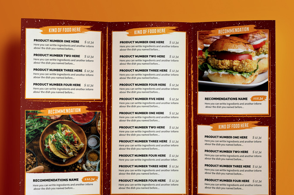 10 Food Menu Template for Restaurant and Bakery Graphic Cloud