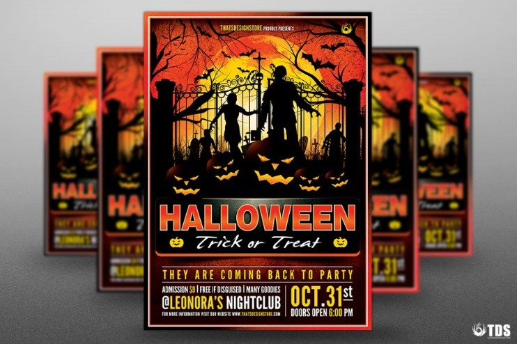 well-organized-halloween-party-flyer-template