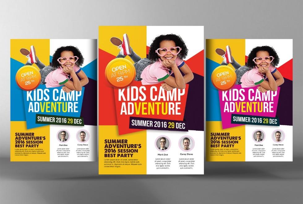 well-organized-summer-camp-flyer-template