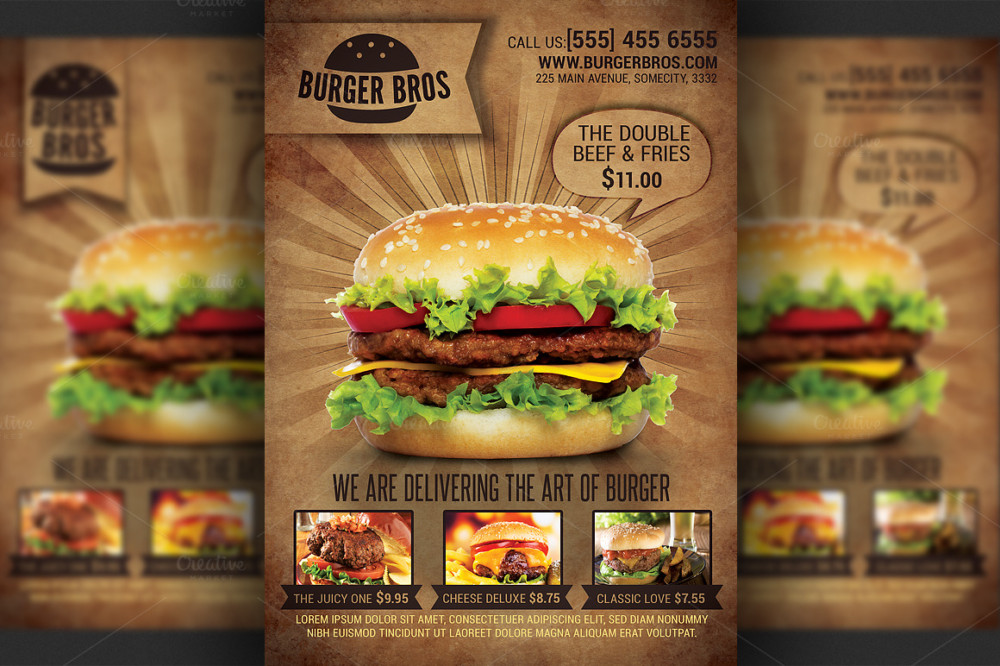 20 Best Restaurant Fast Food Flyer Templates Graphic Cloud – Food Flyer Template