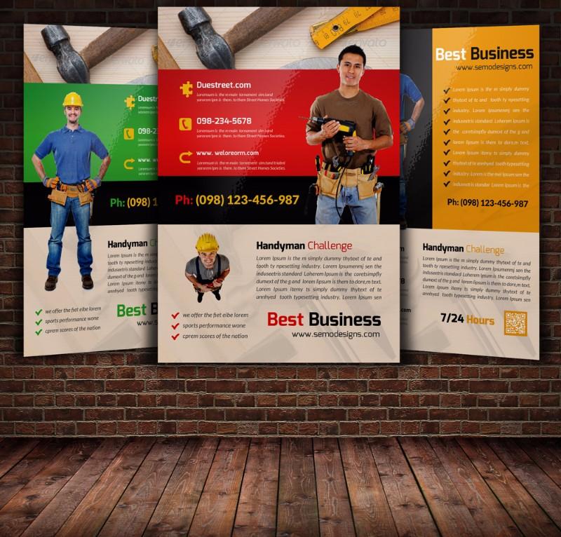 20+ Handyman Advertising Flyer Templates - Graphic Cloud