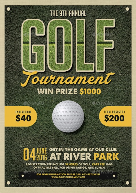 golf-flyer-psd