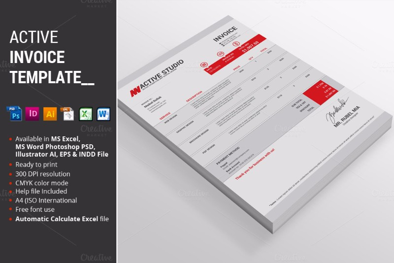 freelance invoice templates for word,excel,open office,pdf, Invoice templates