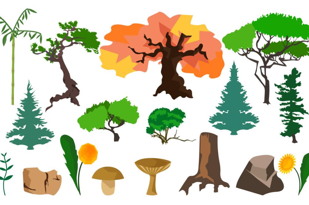 Plants and trees vectors