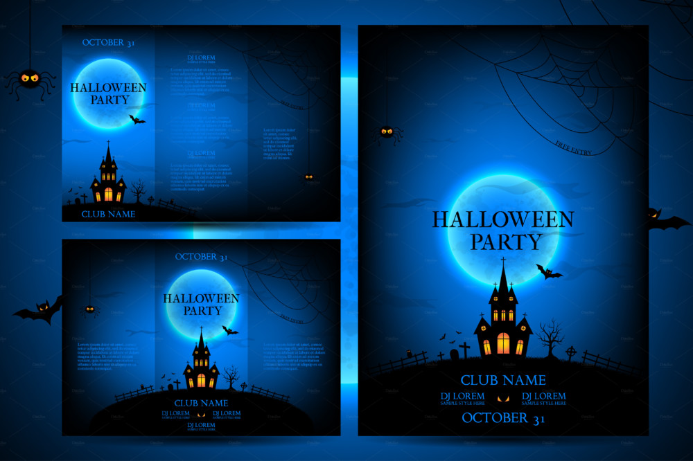 halloween Flyer template psd poster