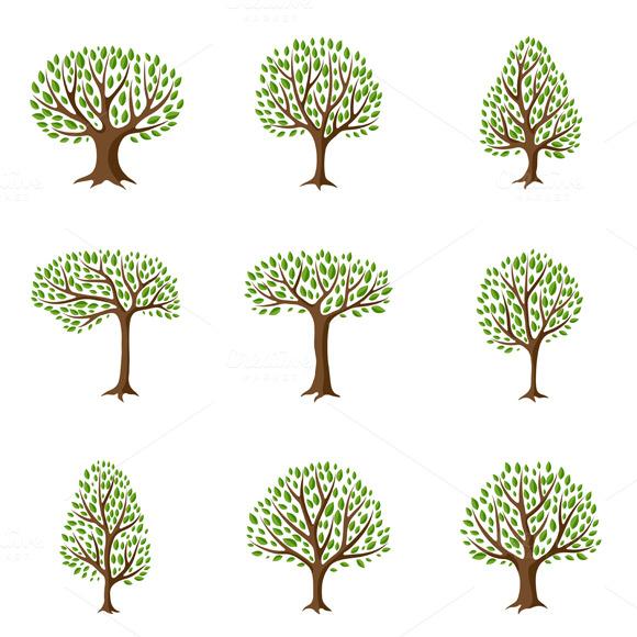 natural tree illustrations
