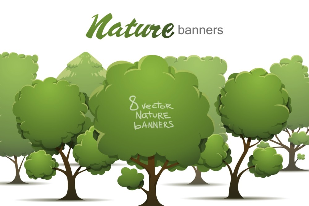 nature-banners vectors
