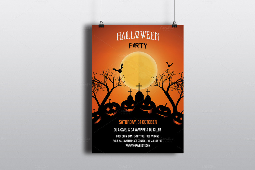 Halloween Party Flyer Templates halloween-party-poster