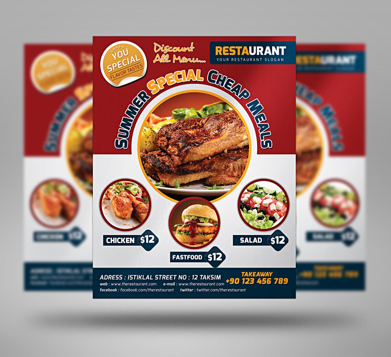 20 Best Restaurant Fast Food Flyer Templates Graphic Cloud 3 Spicy Food Flyer  Templates 1313x1200 Best