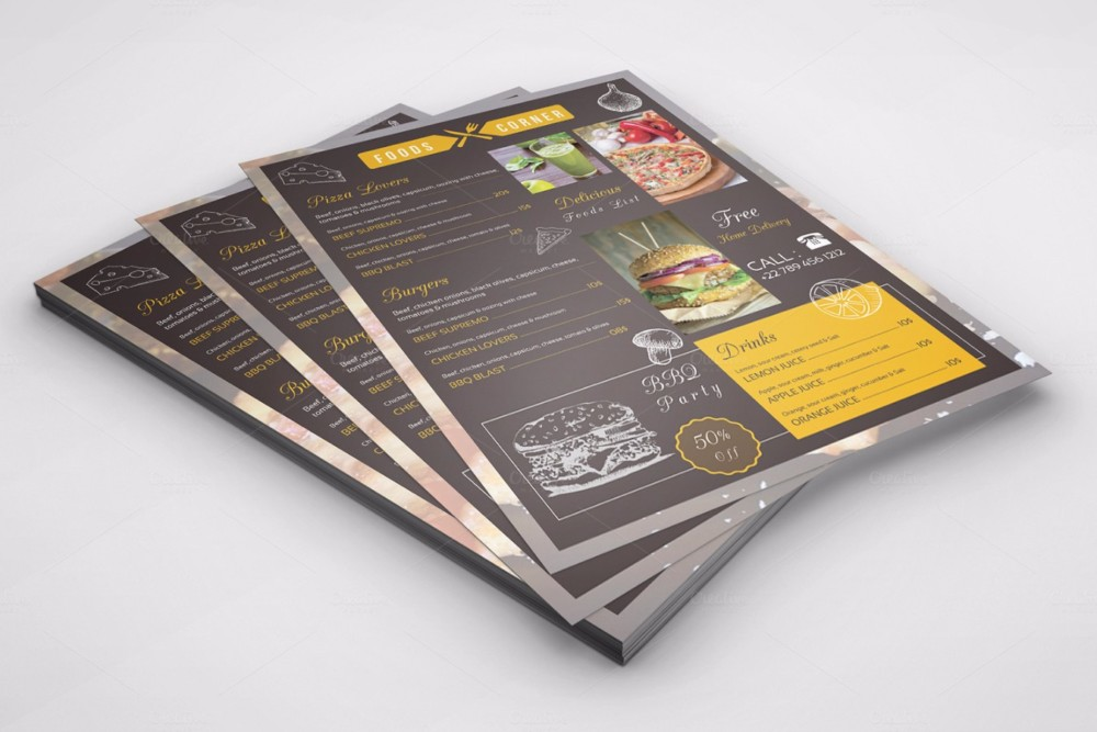 food-brochure-templates