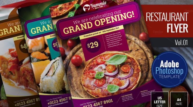 Restaurant Food Flyer Templates