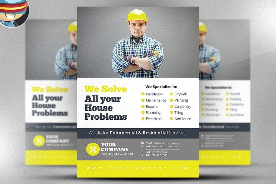 20+ Handyman Advertising Flyer Templates - Graphic Cloud