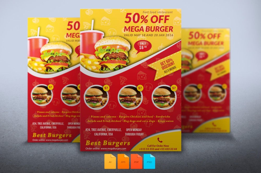 burger-food-flyer-template