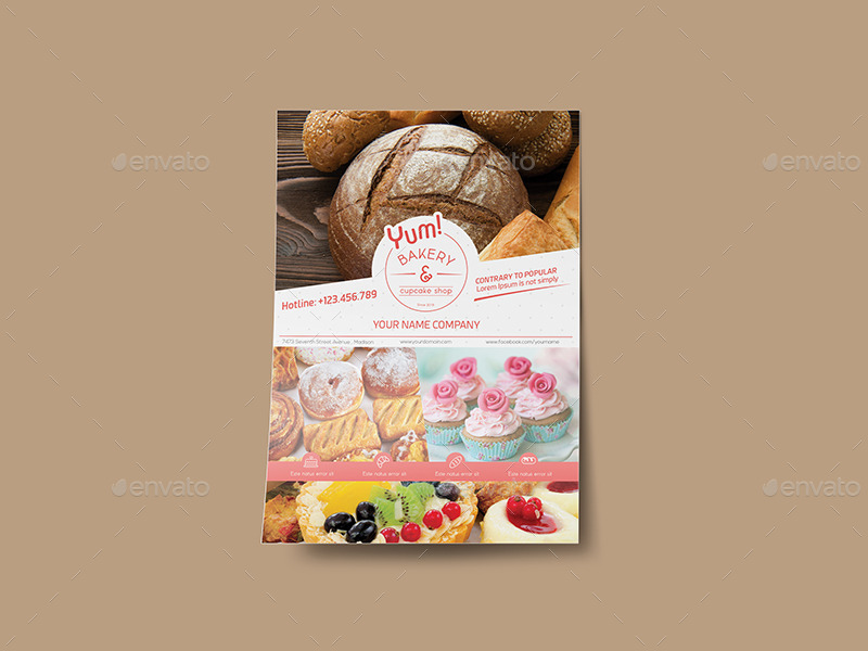 20+ Bakery Flyer Template PSD, InDesign and Vector EPS Template ...