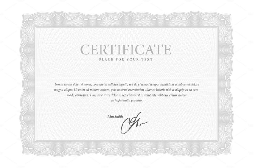 10 Share Certificate Template Vector EPS PSD Format – Stock Share Certificate Template