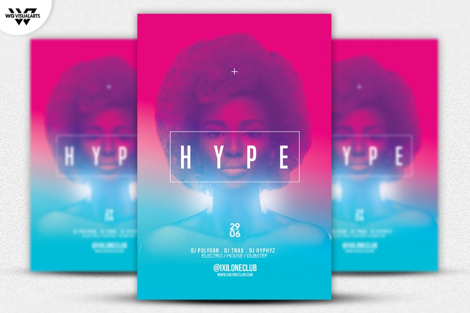 electric-fashion-flyer-template