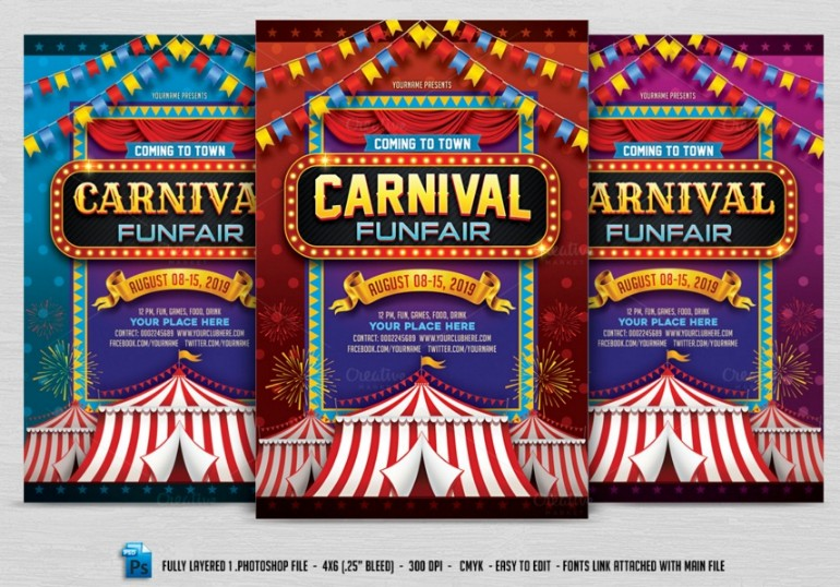 fully-layered-carnival-flyer-template