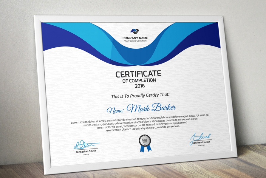20 Professional Certificate Template PSD InDesign and EPS Format  Graphic Cloud