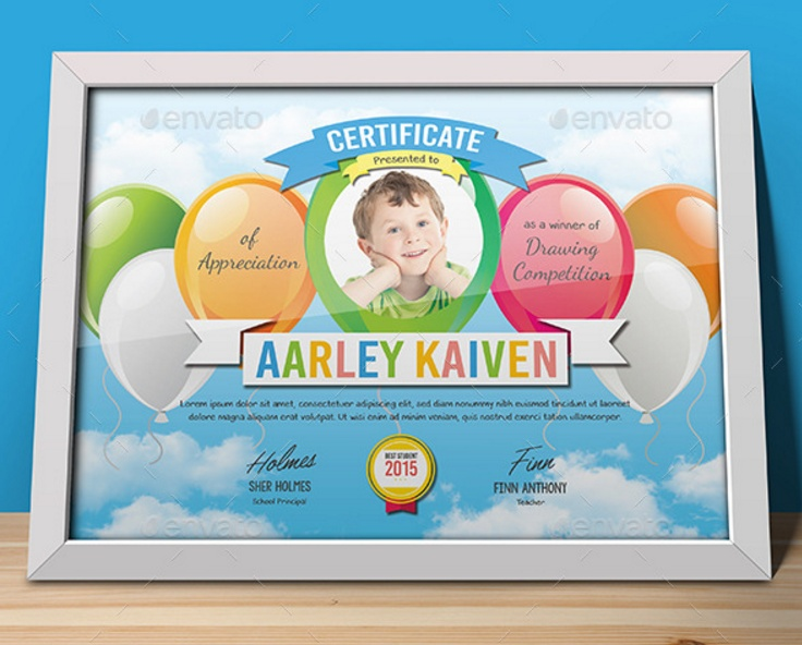 layered-pre-school-certificate-template