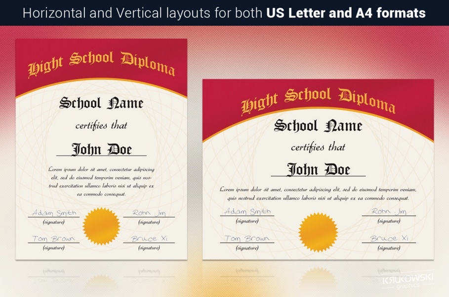 10 Pre School Certificate Template PSD EPS and Word Format – School Certificate Format