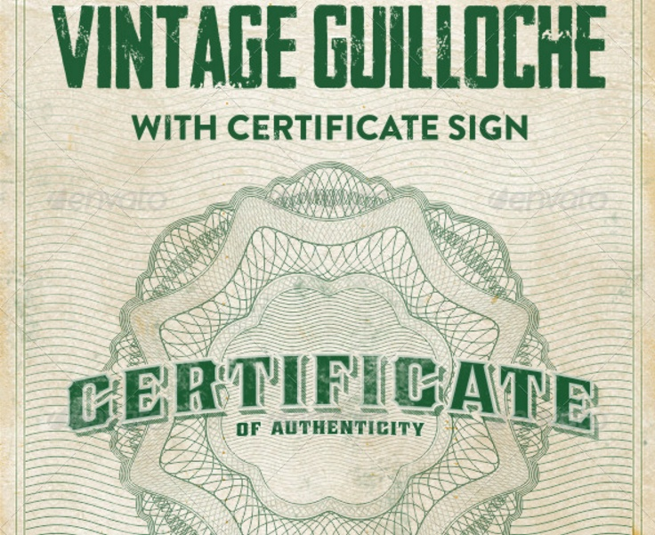 Certificate Of Authenticity Template - Graphic Cloud