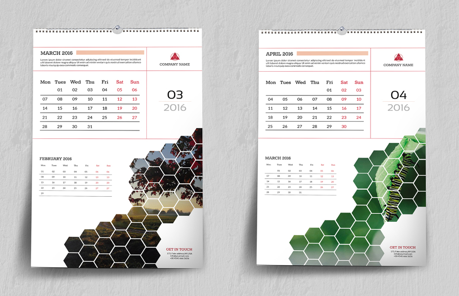 Best Wall Calendar Template Designs PsdPng Eps Format