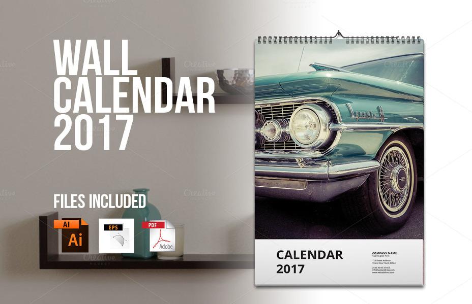 Wall Calendar Template 2017