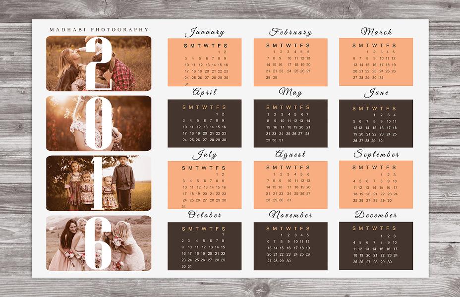 psd-calendar-template